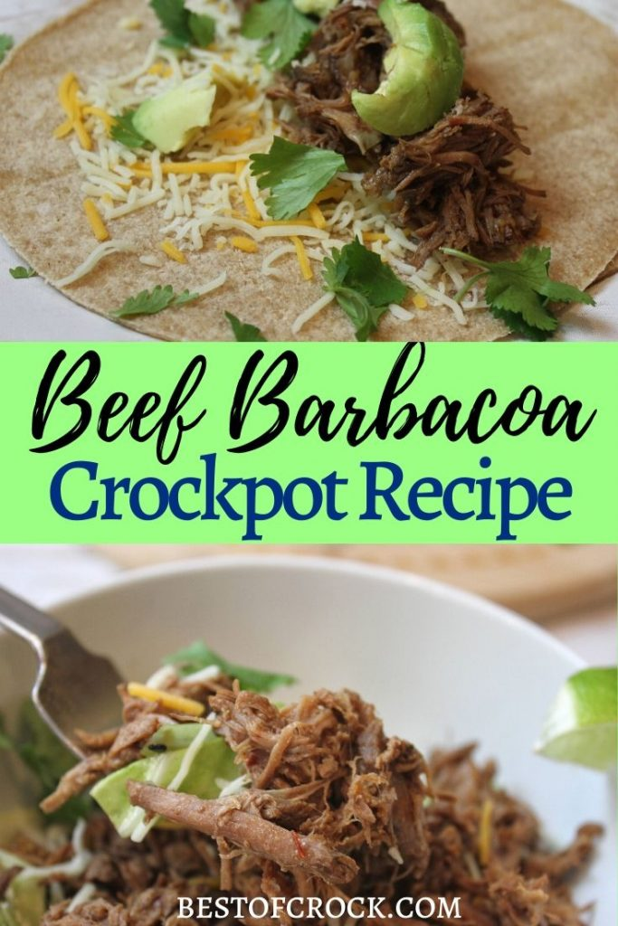 Our delicious beef barbacoa crock pot recipe is full of flavor and perfect for tacos, fajitas, beef bowls, burritos and more making delicious family dinners that everyone will love. Mexican Recipes | Crockpot Dinner Recipes | Low Carb Mexican Recipe | Keto Crockpot Recipes | Beef Crockpot Recipes #crockpot #recipe
