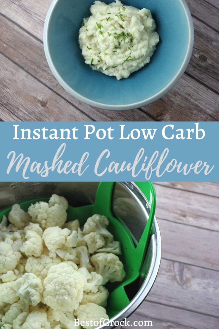 There is nothing easier and more delicious than Instant Pot mashed cauliflower as the perfect low carb side dish for lunch or dinner. Healthy Instant Pot Recipes | Instant Pot Side Dish Recipes | Instant Pot Recipes | Healthy Recipes | Low Carb Recipes | Ketogenic Recipes | Weight Loss Recipes #InstantPot #Recipe via @bestofcrock