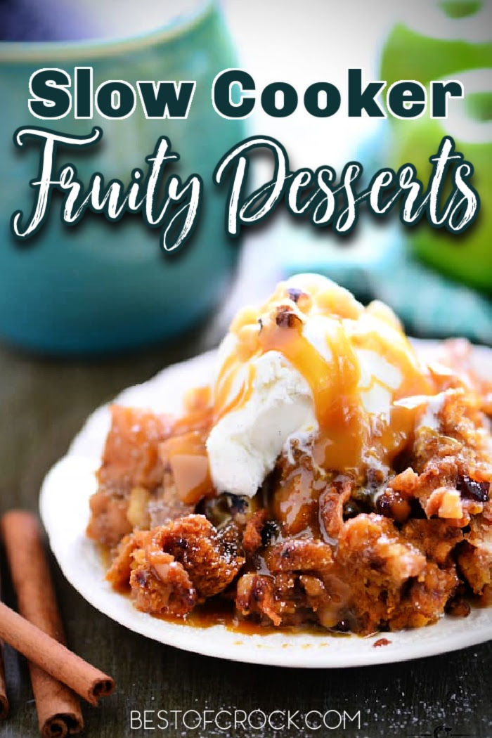 Slow cooker fruity dessert recipes help you turn an ordinary piece of fruit into a delicious dessert that you can share with everyone. Crockpot Fruit Cobbler | Crockpot Fruit Crisp | Slow Cooker Desserts | Fruity Recipes Crockpot | Slow Cooker Dessert Recipes | Crockpot Dessert Recipes #slowcooker #fruit via @bestofcrock