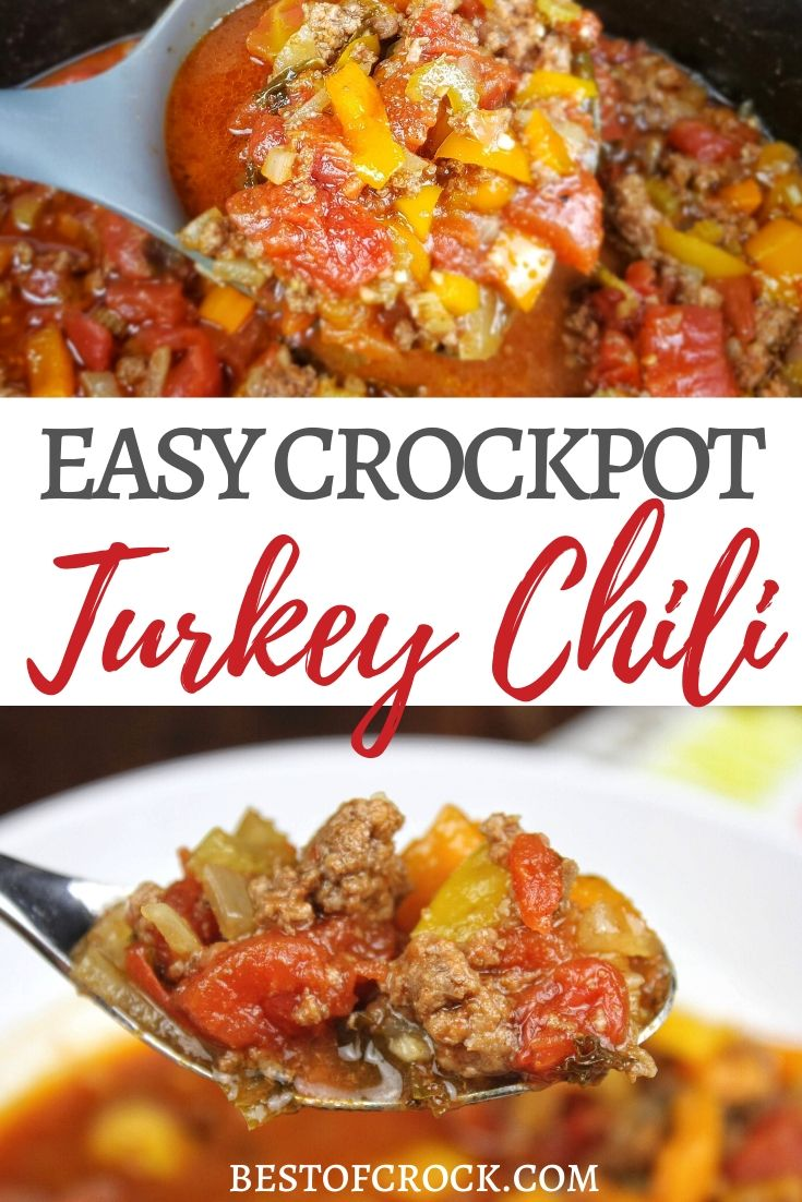 You can easily make the best crockpot turkey chili without beans and it will become a family-favorite crockpot recipe for lunch or dinner. Crockpot Turkey Chili No Beans | Crockpot Recipes for Two | Easy Slow Cooker Recipes | Crockpot Soup Recipes | Crockpot Dinner Recipes #chili #crockpotrecipes #slowcookerrecipes via @bestofcrock