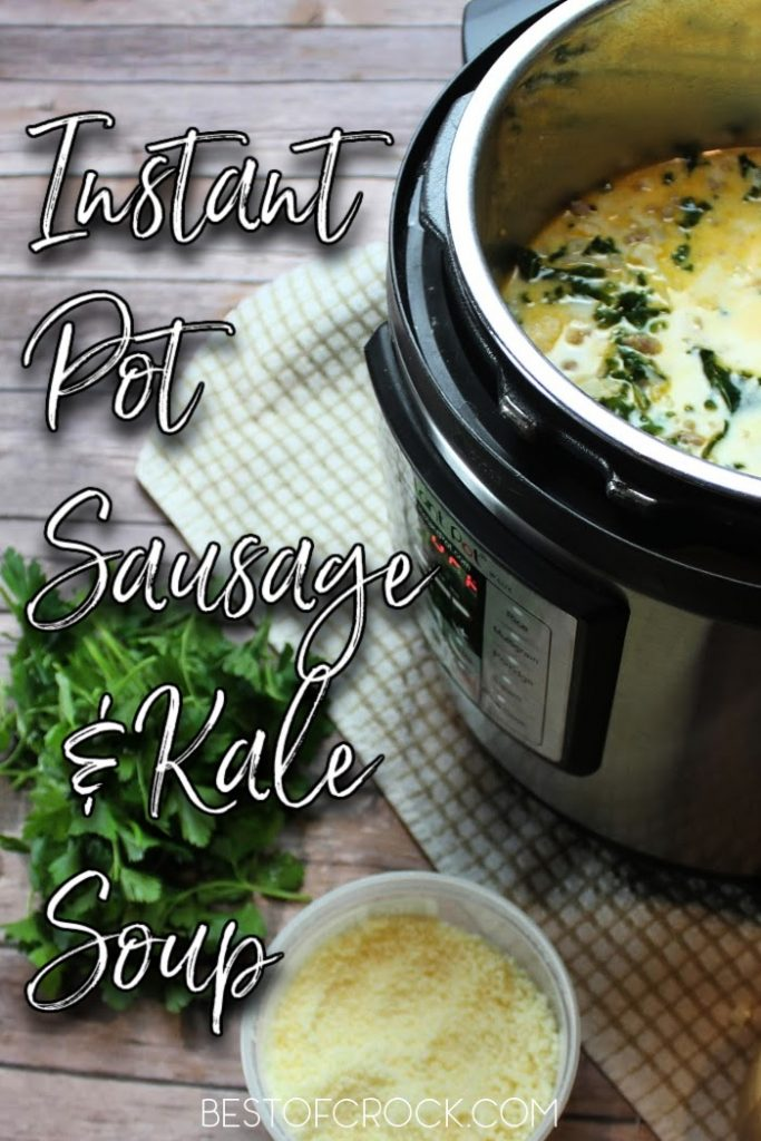 The instant pot adds so much flavor to soups through its cooking process! This instant pot sausage and kale soup recipe is easy to make and perfect for meal planning. Healthy Instant Pot Recipes | Healthy Dinner Recipes | Easy Soup Recipes | Instant Pot Kale Recipes | Instant Pot Sausage Recipes | Pressure Cooker Soup Recipes #InstantPot #soup