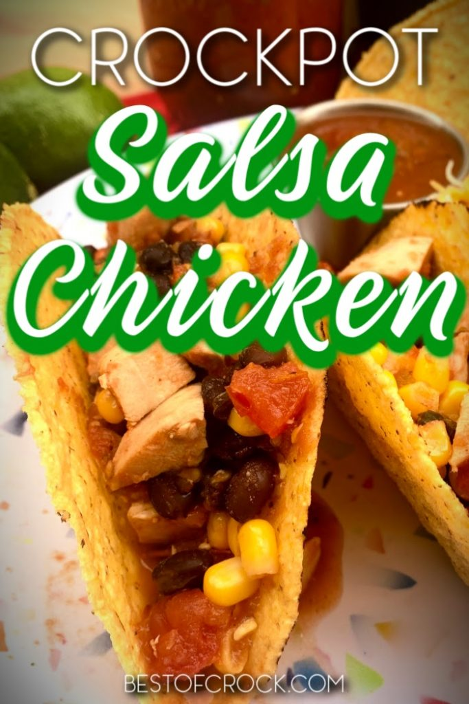 Crockpot salsa chicken is an easy crockpot recipe that can be used with chips, on top of salads, in tacos, or on its own for a low carb snack. Easy Crockpot Recipe | Slow Cooker Salsa Chicken | Slow Cooker Chicken Recipe | Crockpot Chicken Recipes | Slow Cooker Dinner Recipe | Crockpot Recipes for Dinner #crockpot #chicken