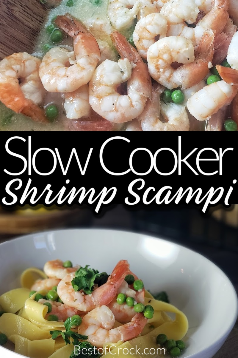 This slow cooker shrimp scampi recipe will be an immediate favorite for your family and friends. It is an easy dinner recipe for weekly meal planning! Crockpot Seafood Recipes | Crockpot Shrimp Recipes | Crockpot Pasta Recipes | Slow Cooker Pasta | Crockpot Dinner Recipes | Date Night Recipes | Easy Crockpot Recipes #slowcooker #crockpotrecipes via @bestofcrock