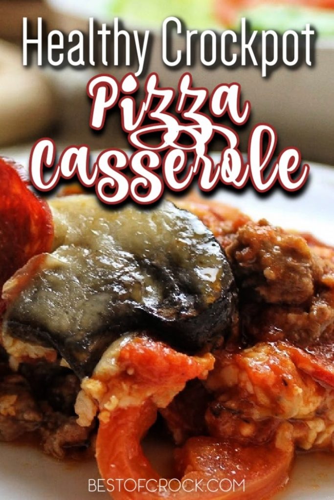 A healthy crockpot pizza casserole can really make a difference as a weight loss recipe and is a family dinner recipe that everyone will love. Crockpot Recipes for Dinner | Slow Cooker Dinner Recipe | Healthy Crockpot Recipes | Crockpot Recipes for Families | Healthy Dinner Recipes Slow Cooker #crockpot #recipes