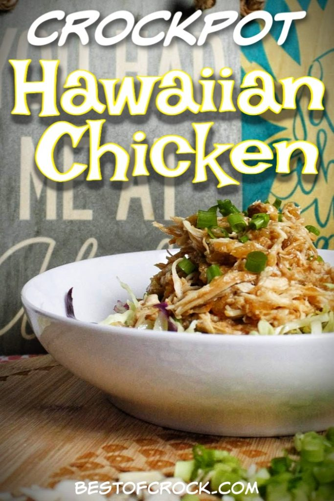 Enjoy this easy and delicious crockpot Hawaiian chicken recipe!  It is also gluten and dairy-free making it perfect for healthy meal planning. Crockpot Chicken Recipes | Slow Cooker Chicken Recipes | Hawaiian Chicken at Home | Hawaiian Chicken Recipe Slow Cooker | Gluten Free Chicken Recipes | Dairy Free Chicken Recipes | Healthy Chicken Crockpot Ideas #Hawaiian #crockpot