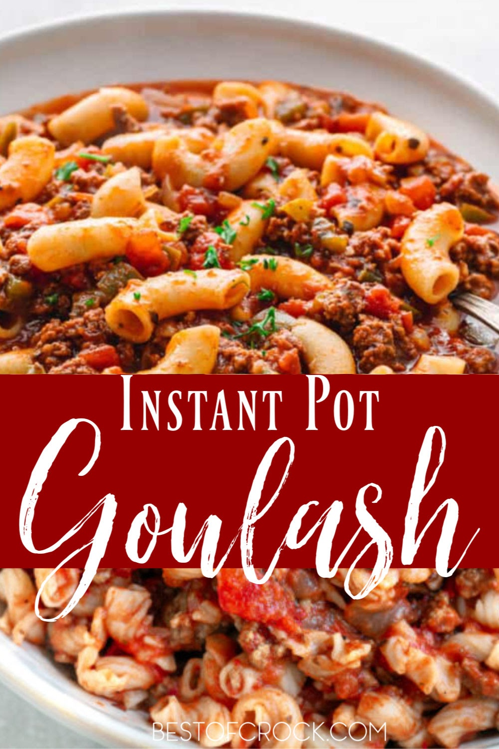 It is easier than you may think to make Instant Pot goulash recipes for family dinners or even as date night dinners that will surely impress. Easy Ground Beef Recipes | Pressure Cooker Goulash | Ground Beef Dinner Recipes | Ground Beef Pasta Recipe | Goulash Recipes Easy Ground Beef #instantpot #recipe via @bestofcrock