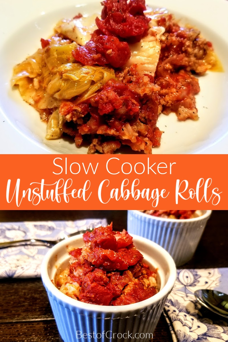 Crockpots make enjoying unstuffed cabbage rolls so much easier. This is an easy crockpot recipe that provides a healthy dinner for the whole family. Healthy Crockpot Recipes | Family Dinner Recipes | Crockpot Cabbage Recipes | Healthy Cabbage Recipes | Crockpot Lunch Recipes | Party Recipes | Crockpot Recipes for a Crowd | Recipes with Cabbage | Vegetable Recipes #crockpotrecipes #healthyrecipes via @bestofcrock