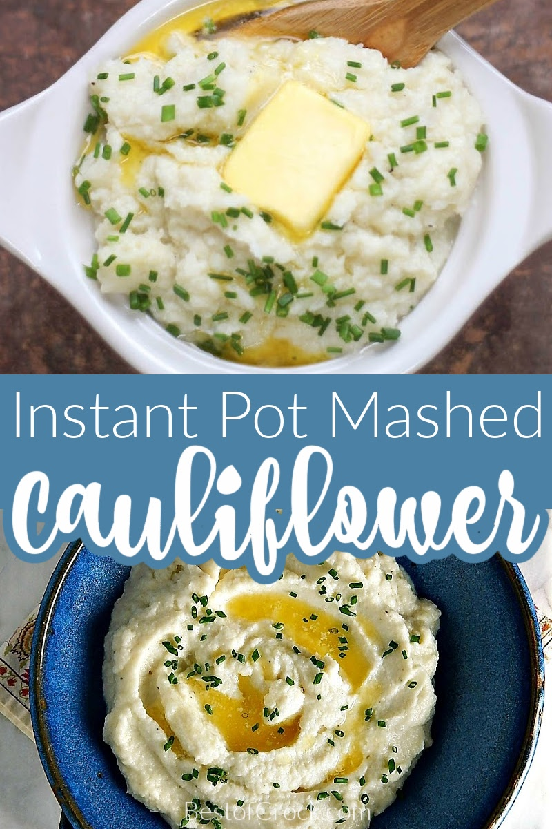 Cauliflower mashed potato recipes are the perfect healthy alternative to mashed potatoes. They even can be considered keto recipes, in some cases. Healthy Instant Pot Recipes | Instant Pot Keto Recipes | Keto Side Dish Recipes | Low Carb Instant Pot Recipes | Easy Side Dish Recipes #instantpot #lowcarb via @bestofcrock