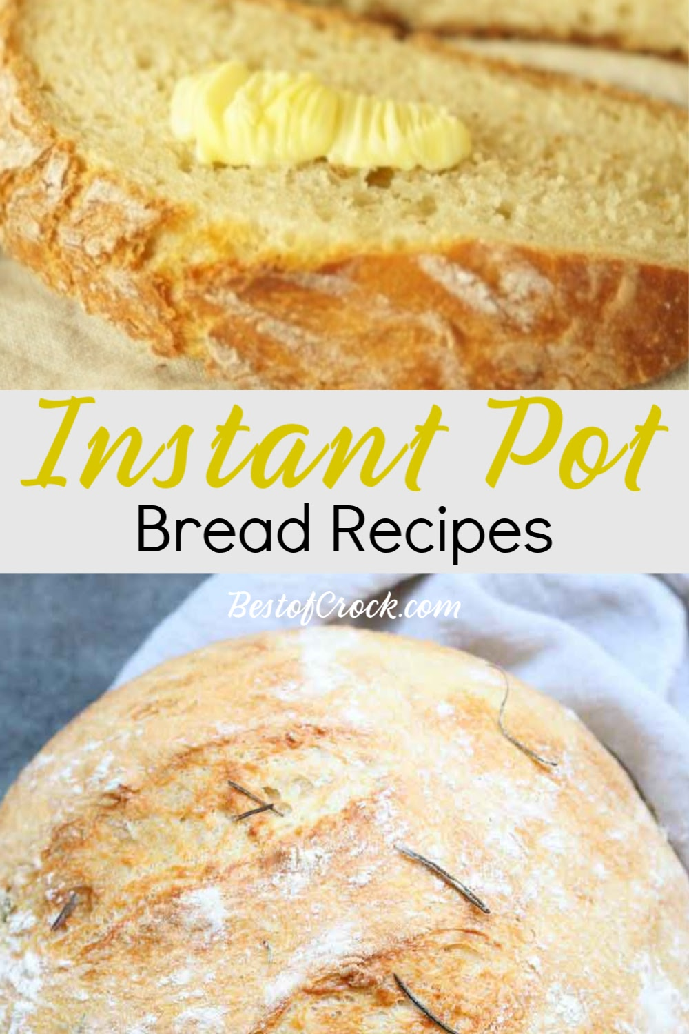 Instant Pot bread recipes make cooking bread at home and enjoying freshly made bread so much easier to do on a weekly basis. Instant Pot Bread Ideas | Tips for Making Bread Instant Pot | Instant Pot Appetizer Recipe | Instant Pot Side Dish Recipe | Dinner Recipes Instant Pot | Breakfast Recipes Instant Pot #instantpot #bread via @bestofcrock