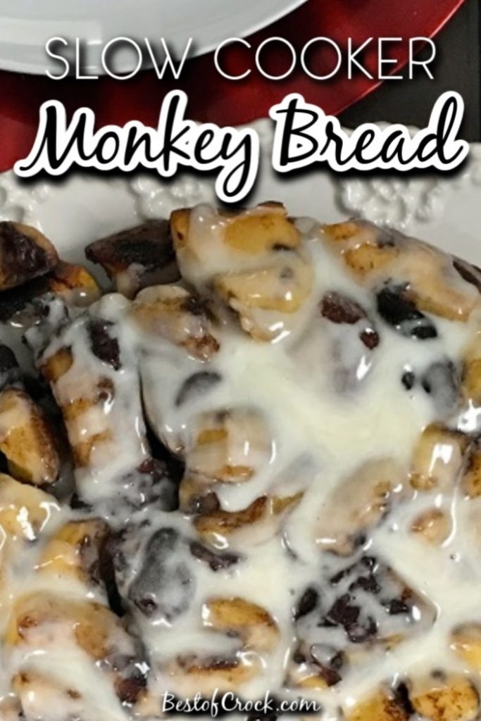 This slow cooker monkey bread recipe is perfect as a crockpot dessert or even a crockpot breakfast. Plus, it is an easy recipe you can make with children, too! Slow Cooker Breakfast Recipes   Holiday Crockpot Recipes   Dessert Recipes for Brunch   Brunch Recipes   Crockpot Brunch Recipes #breakfast #slowcooker