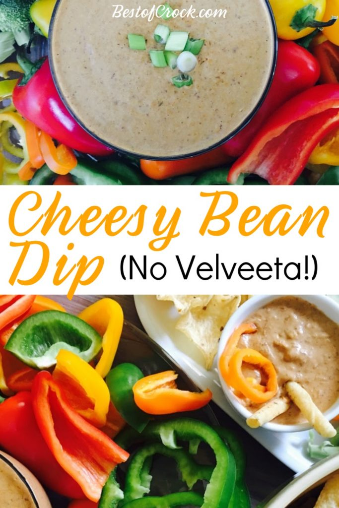 Crockpot Bean Dip with Beans is the perfect party recipe! This dip can be used with chips, crackers, or fresh vegetables for an easy side dish. Party Dips and Appetizers | Homemade Dips for Chips | Party Food Ideas | Recipes with Black Beans | Party Planning | Side Dish Recipes #healthy #recipes