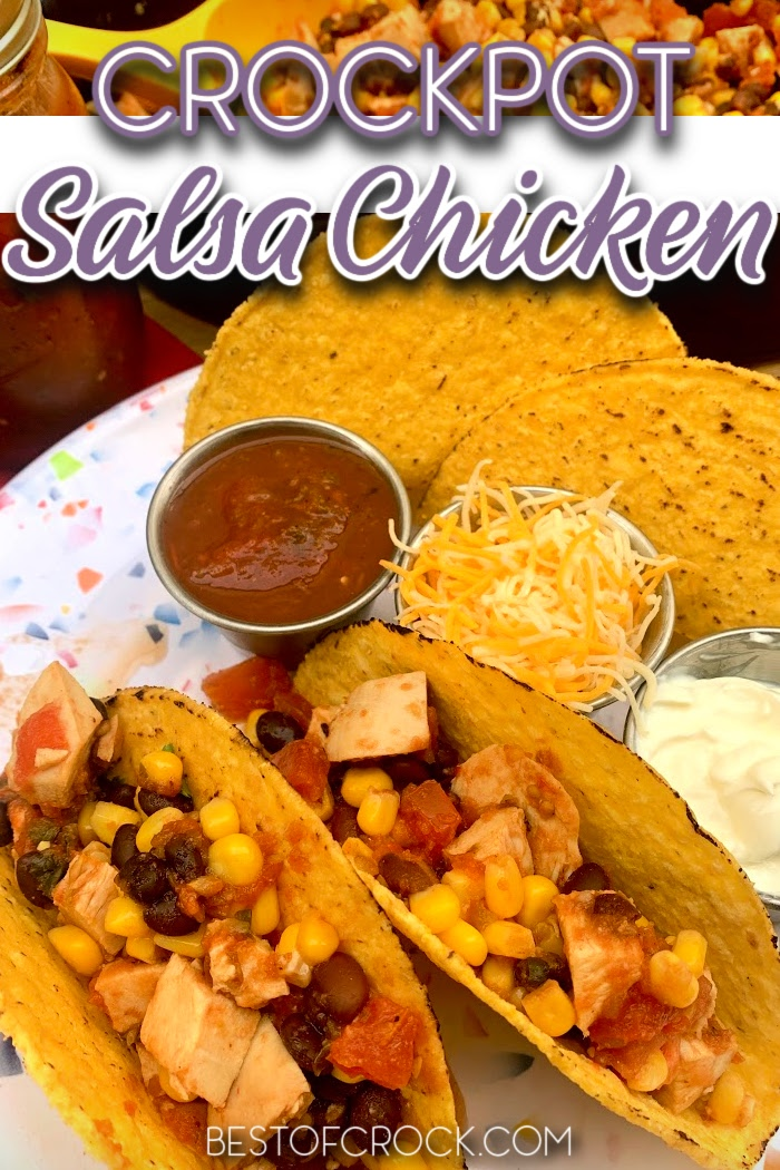 Crockpot salsa chicken is an easy crockpot recipe that can be used with chips, on top of salads, in tacos, or on its own for a low carb snack. Easy Crockpot Recipe | Slow Cooker Salsa Chicken | Slow Cooker Chicken Recipe | Crockpot Chicken Recipes | Slow Cooker Dinner Recipe | Crockpot Recipes for Dinner #crockpot #chicken via @bestofcrock