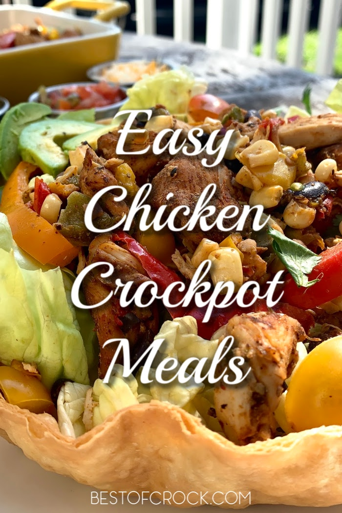 Treat your family and yourself to some easy crockpot meals with chicken that are delicious dinner recipes and help you save time in the kitchen! Chicken Dinner Ideas | Easy Dinner Recipes | Crockpot Chicken Ideas | Family Crockpot Dinner Recipes | Slow Cooker Dinner Recipes #crockpot #chickenrecipes #slowcooker #dinnerrecipes via @bestofcrock