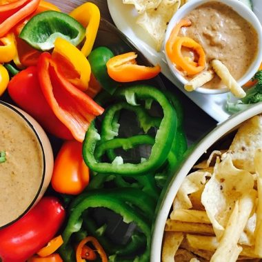 Crockpot Bean Dip with Beans is the perfect party recipe! This dip can be used with chips, crackers, or fresh vegetables for an easy side dish. Healthy Dips for Veggies | Healthy Chip Dip | Healthy Spreads for Crackers | Black Bean Recipes | Chip Dips to Make at Home
