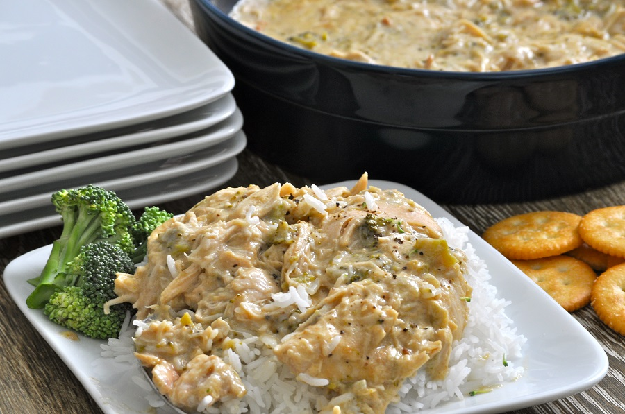 Easy Slow Cooker Chicken and Rice