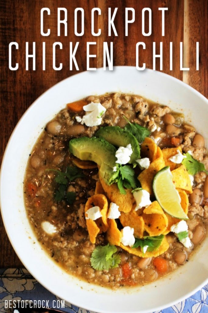 This crockpot ground chicken chili recipe is easy to make and low in fat, making it perfect for a healthy diet. Friends and family are sure to enjoy this homemade chili recipe, too! Slow Cooker Chicken Chili | Crockpot White Chicken Chili | Homemade Chili Recipe | Homemade Chili with Chicken | How to Make Chili in a Crockpot | Crockpot Dinner Recipes | Slow Cooker Comfort Food Recipes | Crockpot Recipes with Chicken #crockpot #chili