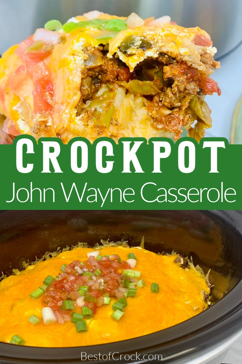 This delicious John Wayne casserole recipe is a classic and easy crockpot recipe to add to your meal plan for the week. John Wayne Potatoes | Cowboy Casserole | Slow Cooker Casserole Recipe | Crockpot Casserole Ingredients | Tater Tot Casserole #crockpot #casserole via @bestofcrock