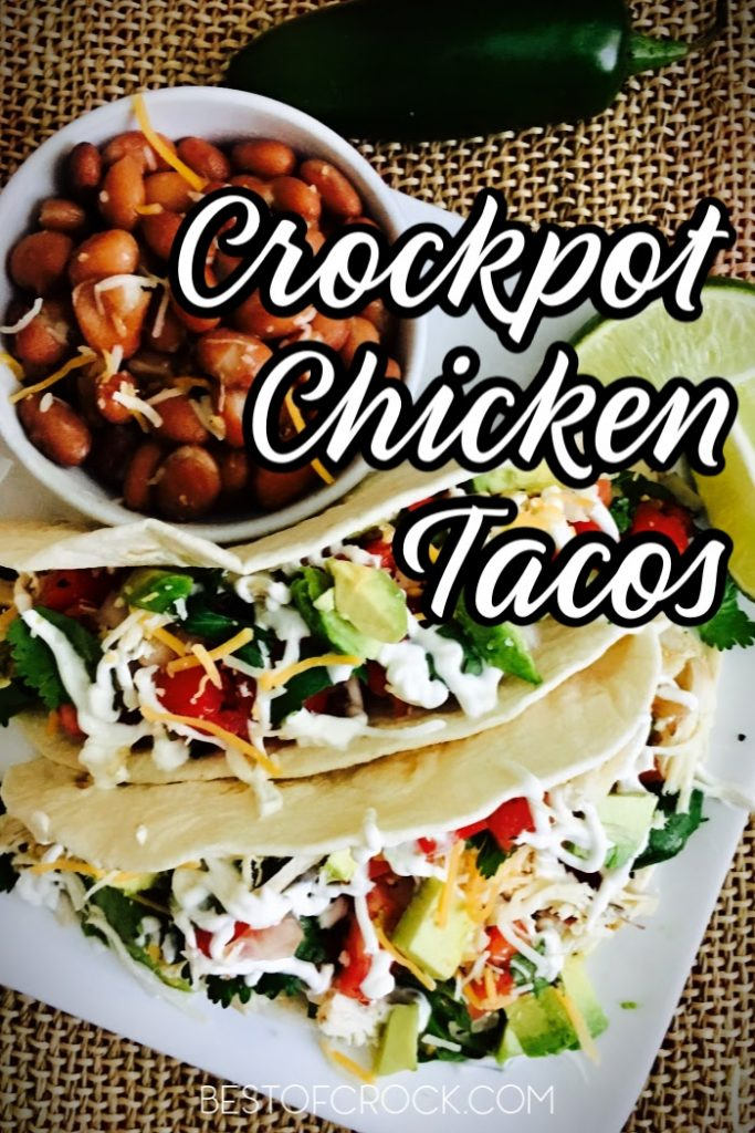 Homemade tacos are easy dinner recipes that you can make any night of the week, especially with this crockpot chicken tacos recipe. Shredded Chicken Tacos | Authentic Chicken Tacos | Mexican Chicken Tacos | Crockpot Shredded Chicken | Slow Cooker Tacos with Chicken | Slow Cooker Dinner Recipes | Crockpot Dinner Recipes Chicken #chicken #tacos