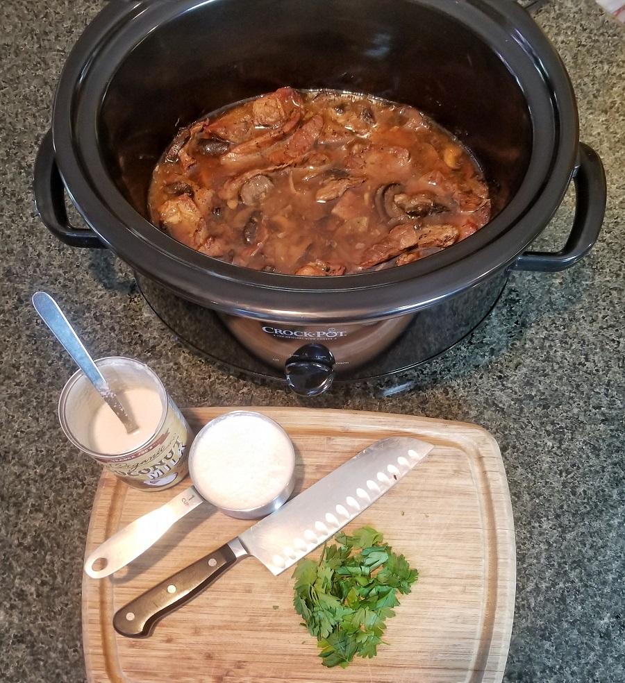 Dairy Free Slow Cooker Beef Stroganoff Stroganoff in a Crockpot