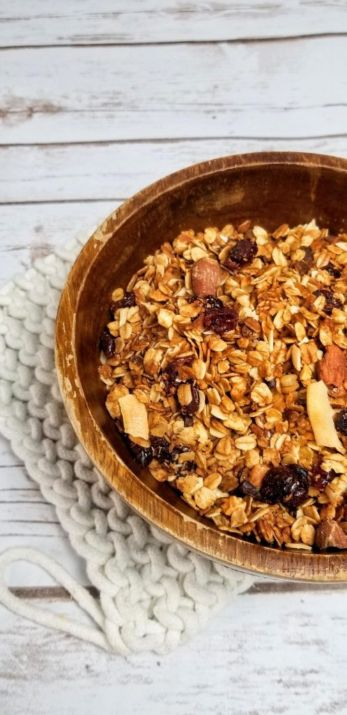 Crockpot Gluten Free Granola Recipe Bowl of Granola