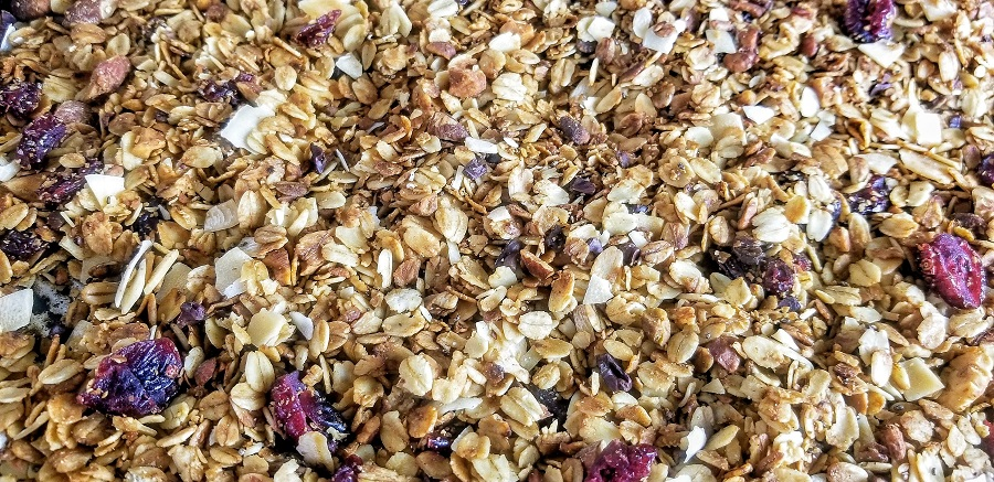 Crockpot Gluten Free Granola Recipe Close Up of Granola