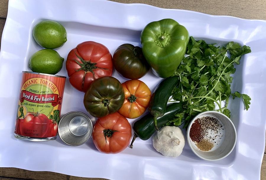 Homemade Slow Cooker Salsa Assorted Salsa Ingredients
