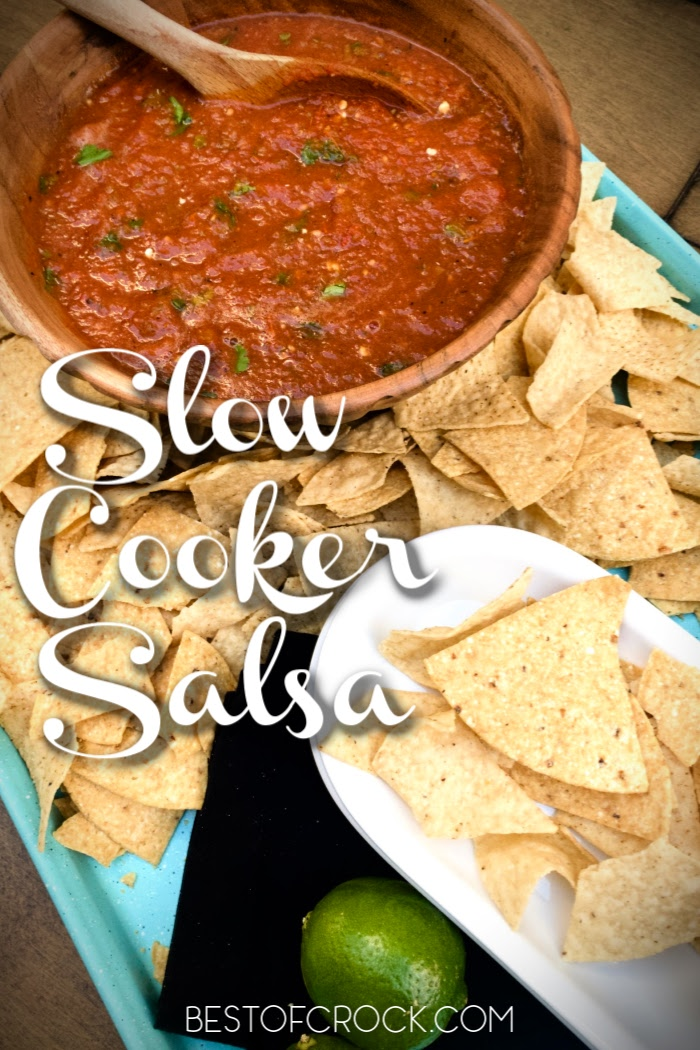 Homemade slow cooker salsa is so easy to make at home and is a great party dish. You can also use it as a delicious taco topping. Slow Roasted Salsa Recipe   Home Made Cooked Salsa   Cooked Salsa At Home   How to Make Salsa   Crockpot Party Recipe   Crockpot Dip Recipes   Slow Cooker Party Ideas #salsa #slowcooker via @bestofcrock