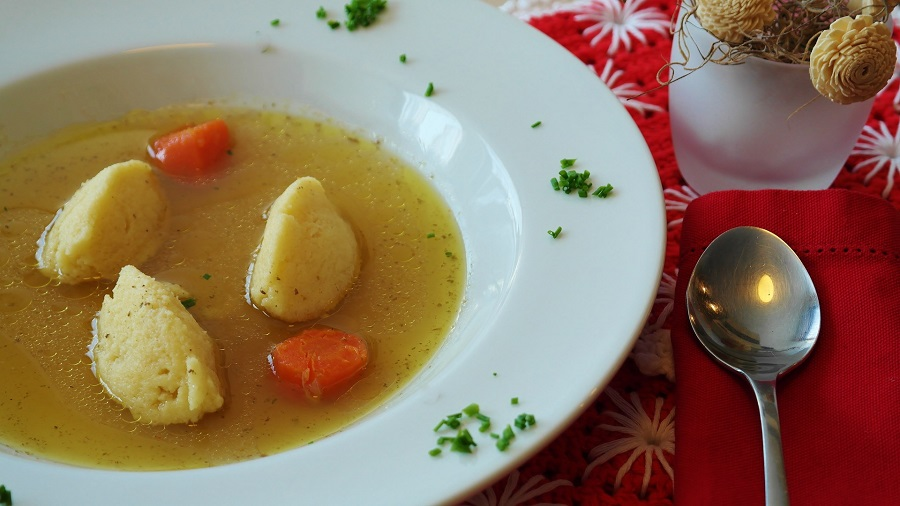 Crockpot Chicken and Dumplings Recipes Wide Rimmed Bowl of Soup