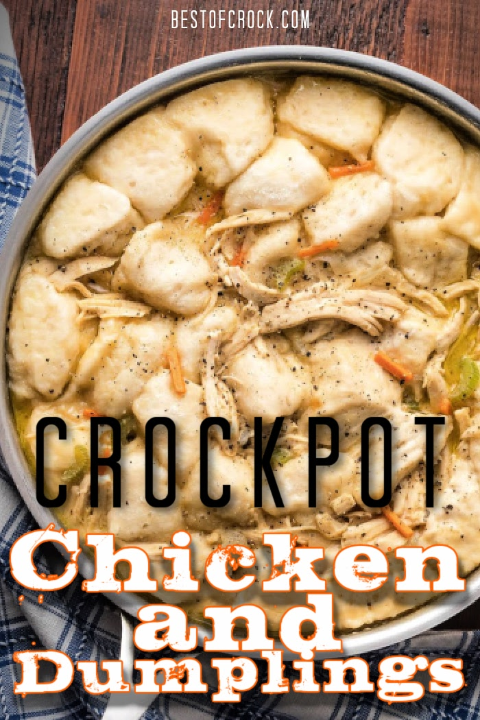 Crockpot chicken and dumplings recipes are loved by many making them a classic and easy family dinner. Slow Cooker Chicken and Dumplings | Homemade Chicken and Dumplings | Chicken and Dumplings from Scratch | Frozen Dumplings Chicken and Dumplings | Crockpot Chicken and Dumplings with Noodles | Crockpot Family Dinners | Family Dinner Recipes for Slow Cookers #crockpot #chicken via @bestofcrock