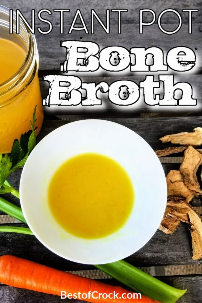 Knowing how to make Instant Pot bone broth can help you save money at the grocery store and add the plethora of bone broth health benefits to your meals. Instant Pot Bone Broth for Soups | Instant Pot Broth Recipes | How to Make Bone Broth | Instant Pot Chicken Bone Broth | Instant Pot Beef Bone Broth #instantpot #bonebroth