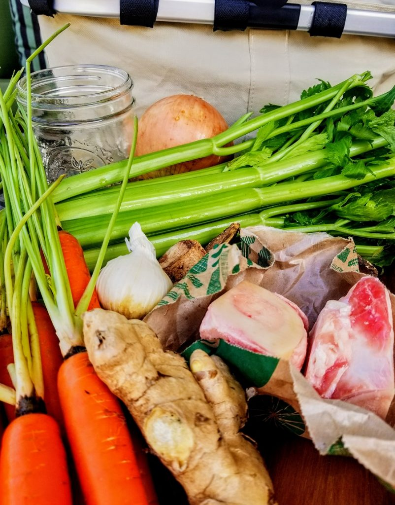Instant Pot Bone Broth Vegetable Ingredients
