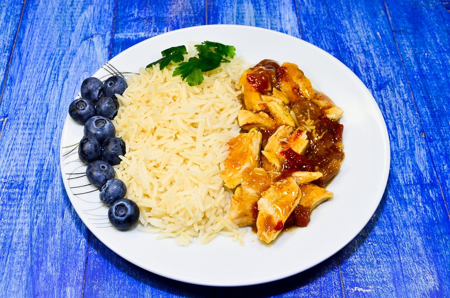 Shredded Instant Pot BBQ Chicken Recipes Plate of Chicken with Sides
