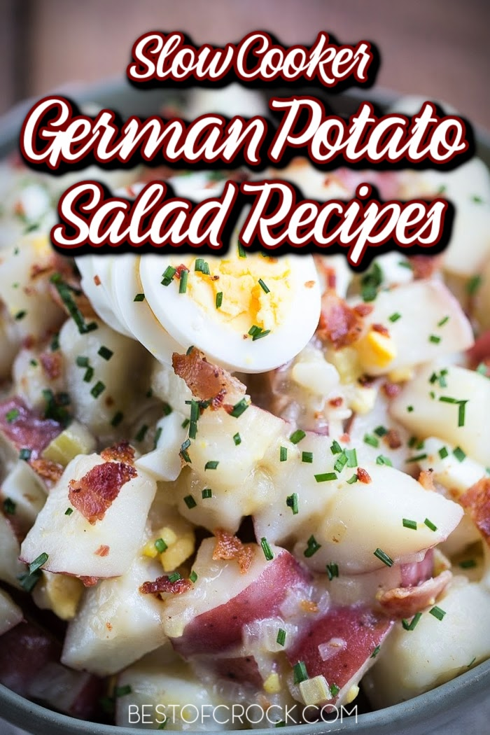 Crockpot German potato salad recipes might just end up being the best crockpot side dish with potatoes you have ever made! Hot Potato Salad   Crockpot Potato Salad   Hot German Potato Salad Celery   Crockpot Side Dish Recipes with Potatoes   Crockpot Recipes with Potatoes   Summer BBQ Side Dishes   BBQ Side Dish Recipes #crockpot #potatosalad via @bestofcrock