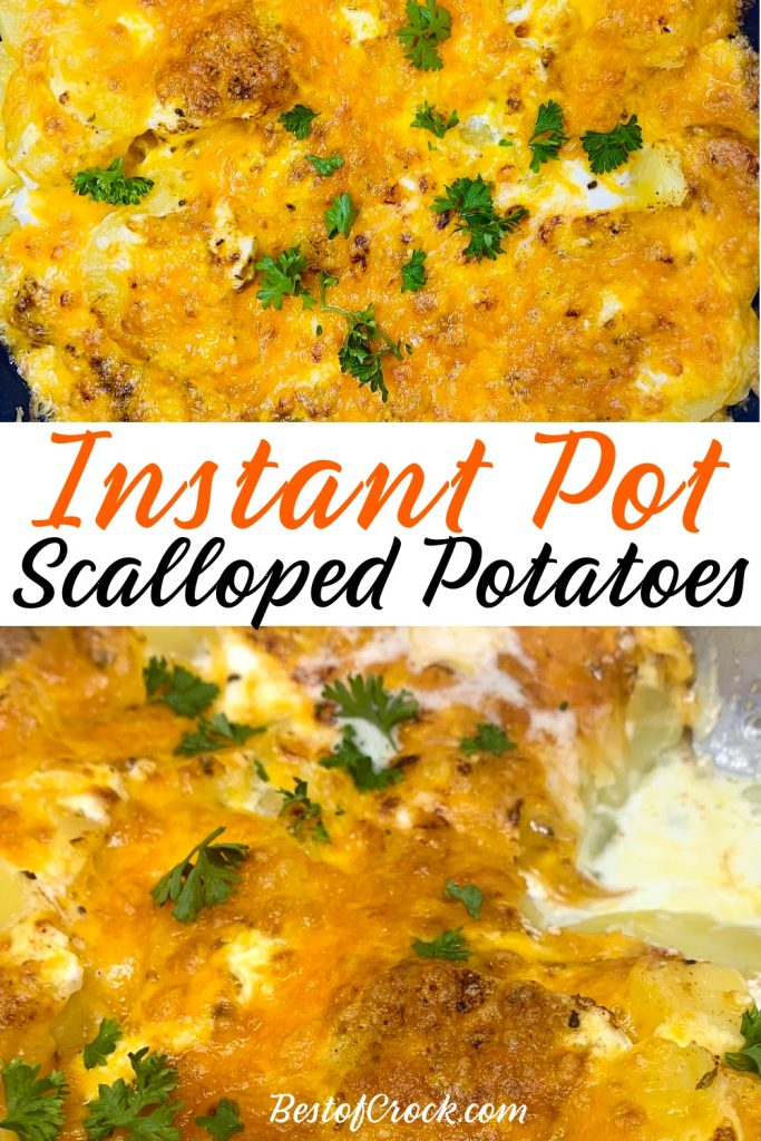 Instant Pot side dish recipes help make putting together a family dinner easier and this Instant Pot sour cream scalloped potatoes recipe will help for sure! Instant Pot Scalloped Potatoes with Sour Cream | Instant Pot Cheesy Potatoes | Instant Pot Side Dish Recipes | How to Make Scalloped Potatoes | Instant Pot BBQ Recipes | Instant Pot Potato Recipes | Party Side Dish Recipes #instantpot #potatoes