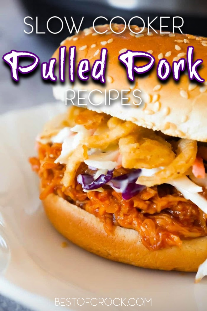 Slow cooker pulled pork recipes make meal prep even easier with so many different pulled pork flavors to choose from as you plan delicious dinner recipes. Slow Cooker Pulled Pork BBQ Sauce | Slow Cooker Pulled Pork Chops | Slow Cooker Pulled Pork Tenderloin | Crockpot Recipes with Pork | Crockpot BBW Recipes | Pulled Pork Crockpot #slowcooker #pork via @bestofcrock