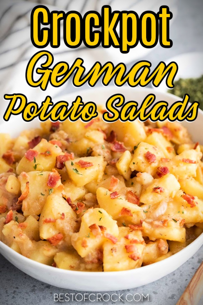 Crockpot German potato salad recipes might just end up being the best crockpot side dish with potatoes you have ever made! Hot Potato Salad | Crockpot Potato Salad | Hot German Potato Salad Celery | Crockpot Side Dish Recipes with Potatoes | Crockpot Recipes with Potatoes | Summer BBQ Side Dishes | BBQ Side Dish Recipes #crockpot #potatosalad via @bestofcrock