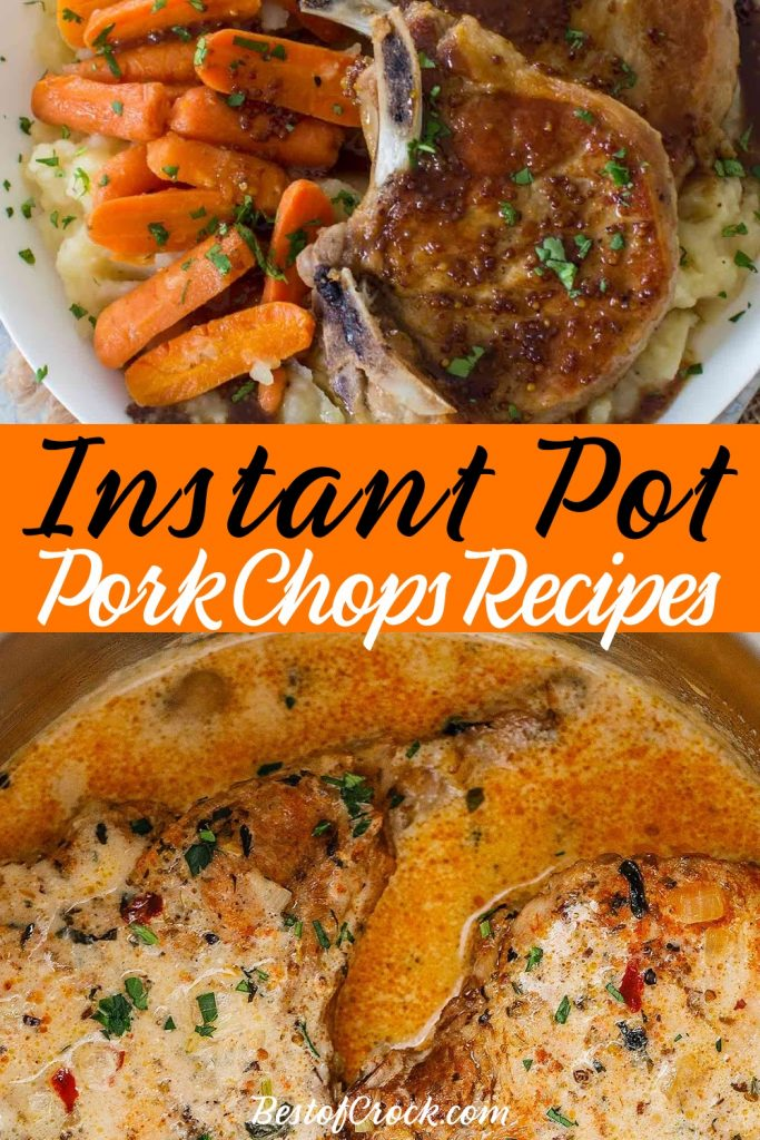 Instant Pot pork chops recipes are easy to make and are perfect for meal planning for an easy family dinner or a dinner for two meals on date night. Instant Pot Pork Recipes   Instant Pot Dinner Recipes   Instant Pot Pork Chops with Mushroom Soup   Instant Pot Pork Chops Bone-In   Instant Pot Pork Chops and Rice   Healthy Instant Pot Pork Chops   Pressure Cooker BBQ Pork Chops #instantpot #dinnerrecipes