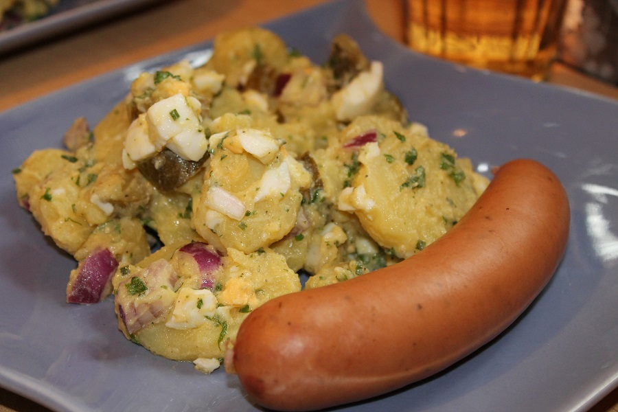 Crockpot German Potato Salad Recipes Potato Salad with Bratwurst