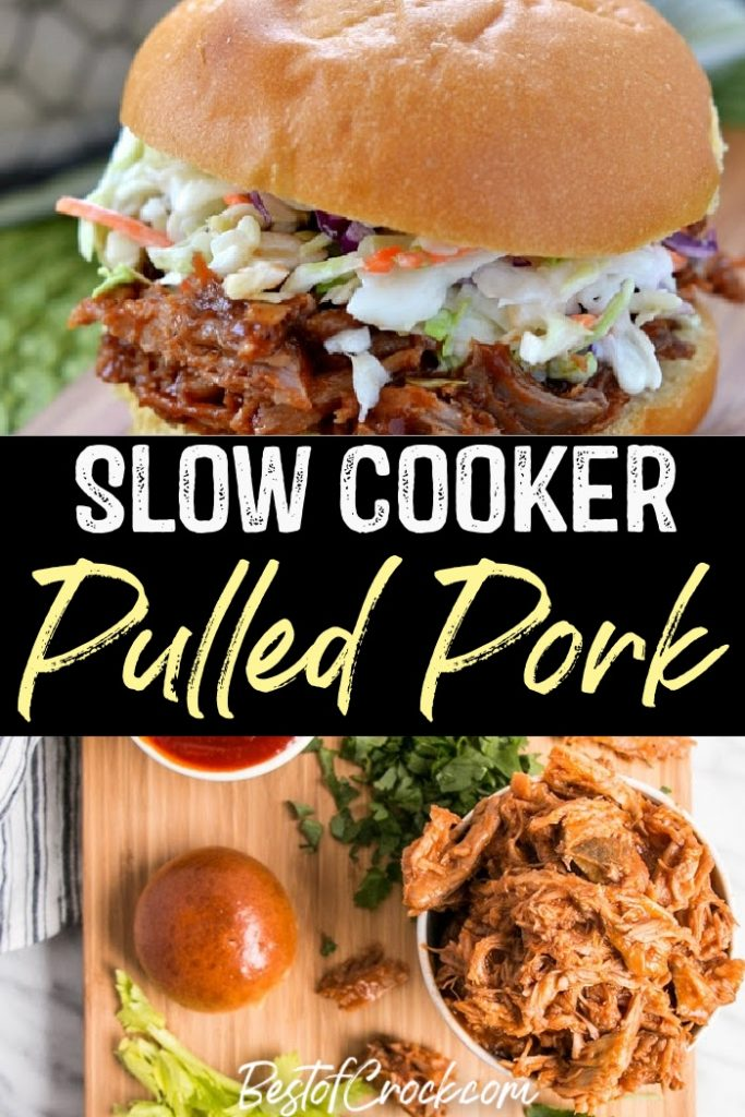 Slow cooker pulled pork recipes make meal prep even easier with so many different pulled pork flavors to choose from as you plan delicious dinner recipes. Slow Cooker Pulled Pork BBQ Sauce   Slow Cooker Pulled Pork Chops   Slow Cooker Pulled Pork Tenderloin   Crockpot Recipes with Pork   Crockpot BBW Recipes   Pulled Pork Crockpot #slowcooker #pork