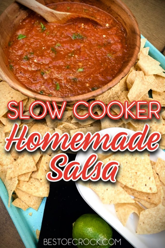 Homemade slow cooker salsa is so easy to make at home and is a great party dish. You can also use it as a delicious taco topping. Slow Roasted Salsa Recipe | Home Made Cooked Salsa | Cooked Salsa At Home | How to Make Salsa | Crockpot Party Recipe | Crockpot Dip Recipes | Slow Cooker Party Ideas #salsarecipe #slowcookerrecipes