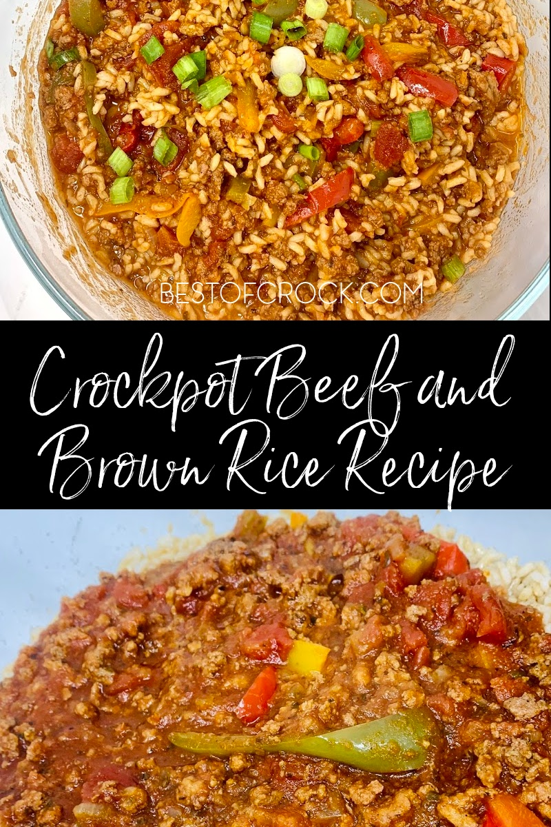 All it takes is an easy crockpot beef with brown rice and vegetables recipe to make dinner both simple and enjoyable tonight. Slow Cooker Beef and Rice Casserole | Stew Beef and Rice in Crockpot | Steak and Brown Rice Recipes | Ground Beef and Rice Recipes | Beef in Slow Cooker | Slow Cooker Recipes with Beef | Crockpot Recipes with Beef #beef #slowcooker via @bestofcrock