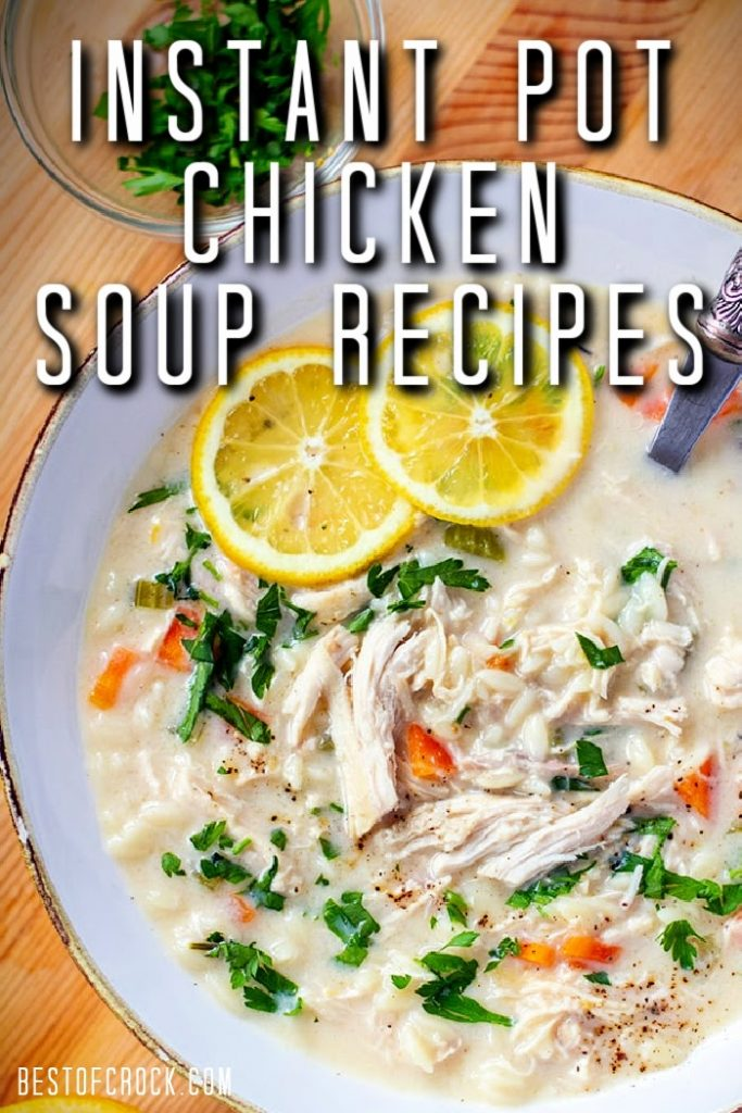 Making Healthy Instant Pot chicken soup recipes may be easy, but they are still comforting for everyone to enjoy! Instant Pot Chicken Recipes | Instant Pot Soup Recipes | Healthy Chicken Soup Recipes | Instant Pot Chicken Soup with Rice | Healthy Instant Pot Recipes | Healthy Soup Recipes #instantpot #soup