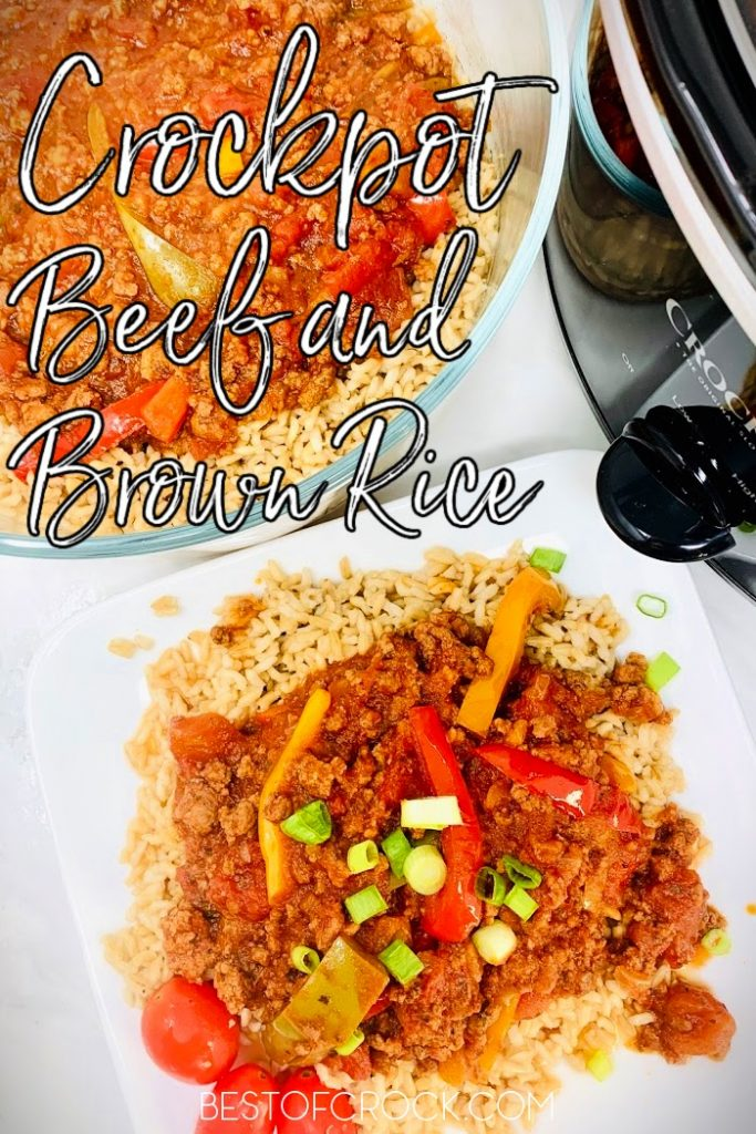 All it takes is an easy crockpot beef with brown rice and vegetables recipe to make dinner both simple and enjoyable tonight. Slow Cooker Beef and Rice Casserole | Stew Beef and Rice in Crockpot | Steak and Brown Rice Recipes | Ground Beef and Rice Recipes | Beef in Slow Cooker | Slow Cooker Recipes with Beef | Crockpot Recipes with Beef #beef #slowcooker