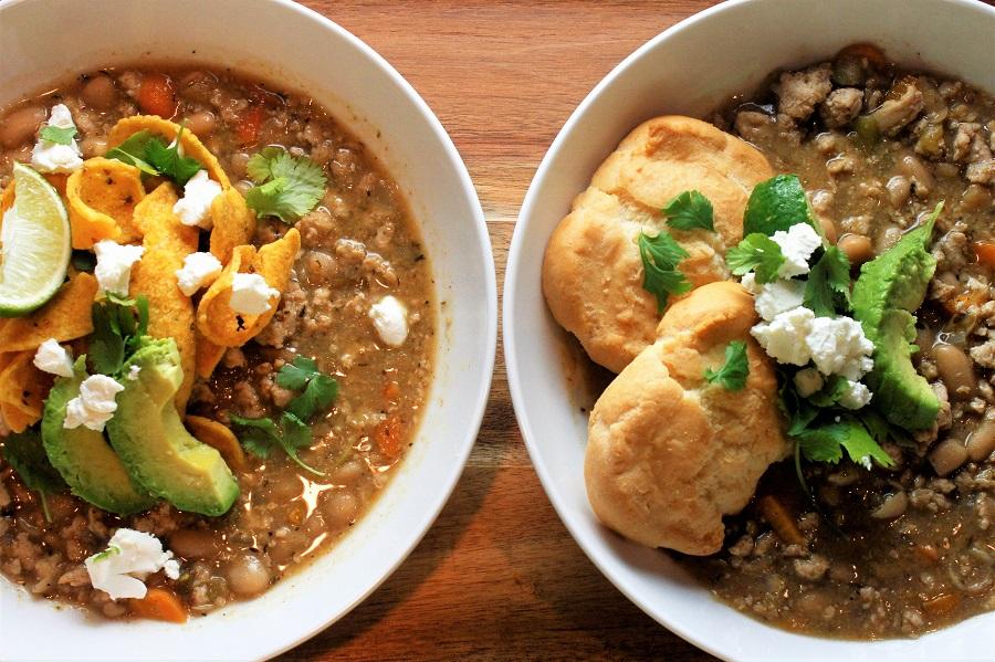 Crockpot Chicken Chili Recipes Two Bowls of Chili