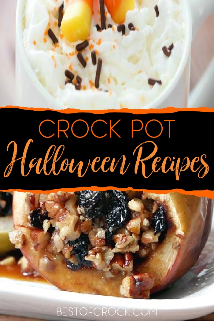 Spooky recipes are perfect during the fall season, but you can make things easier with crockpot Halloween recipes. Halloween Recipes for Kids | Slow Cooker Halloween Recipes Parties | Halloween Appetizer Ideas | Spooky Snack Ideas | Fall Crockpot Recipes | Crockpot Halloween Snacks #halloween #crockpot via @bestofcrock