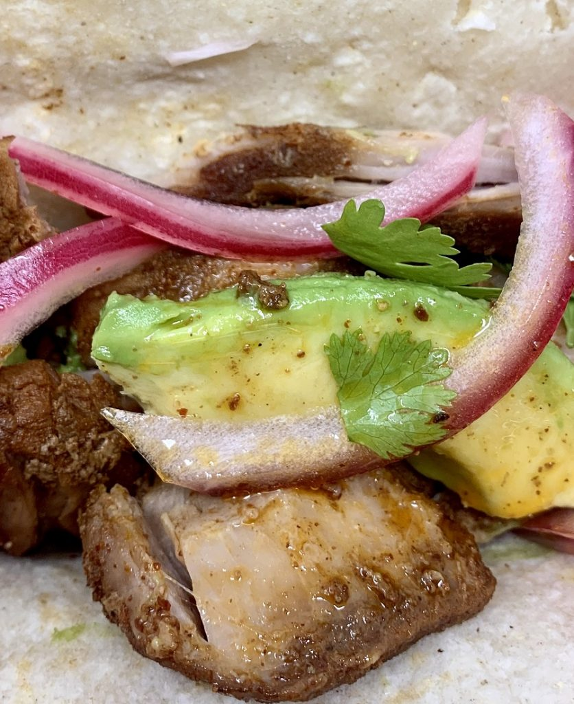 Crockpot Pulled Pork Tacos Recipe Close Up of Tacos