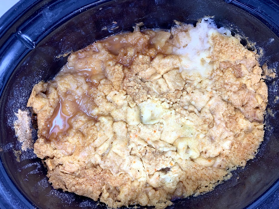 Crockpot Apple Crisp All Ingredients in a Crockpot