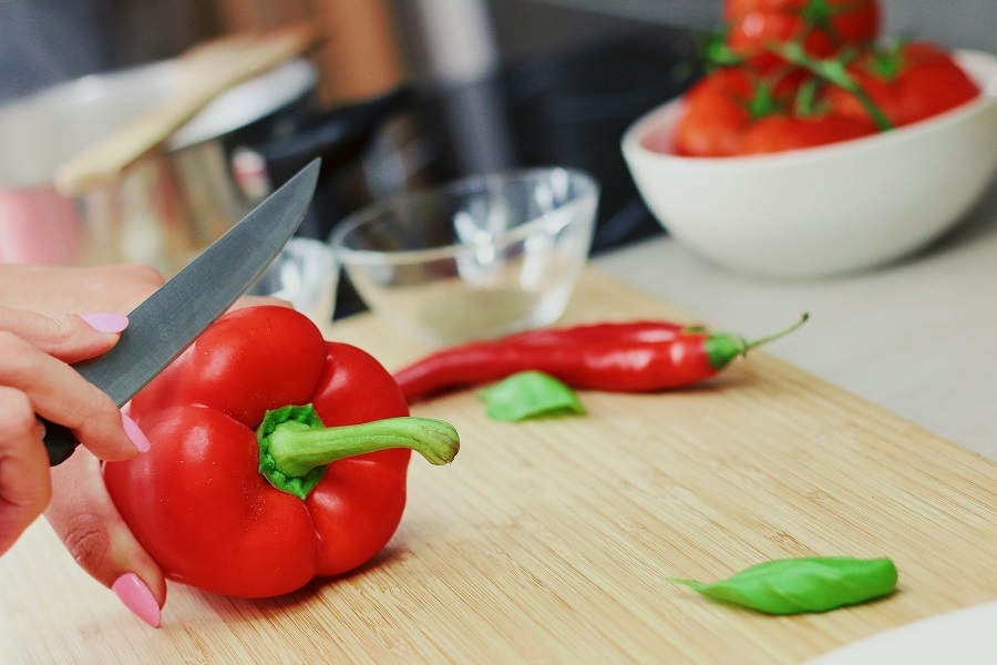 Instant Pot Pepper Soup Recipes Someone Slicing Bell Peppers