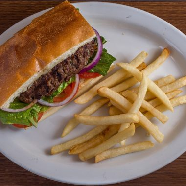 Crockpot Beef Sandwich Recipes Beef Sandwich on a Plate with Fries