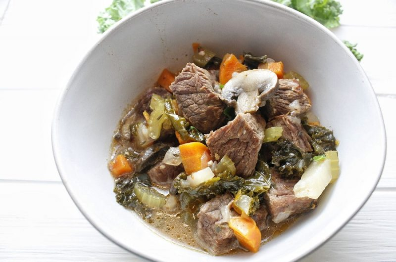 Healthy Slow Cooker Beef Stew in a Bowl